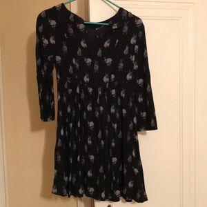 H&M rabbit print long blouse / short dress, size 4